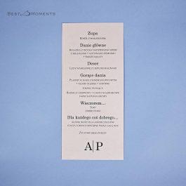 Karta menu Minimalistyczne 06