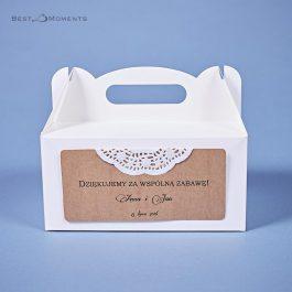 Pudełko na ciasto Eko 01