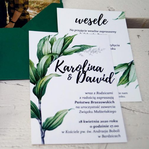 Zaproszenie Roślinne 05