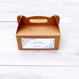 Pudełko na ciasto Kwiatowe 03