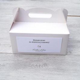 Pudełko na ciasto Kwiatowe 09a